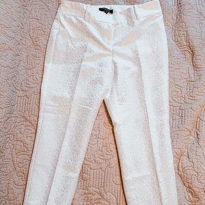 Ann Taylor petite size four white lace pants